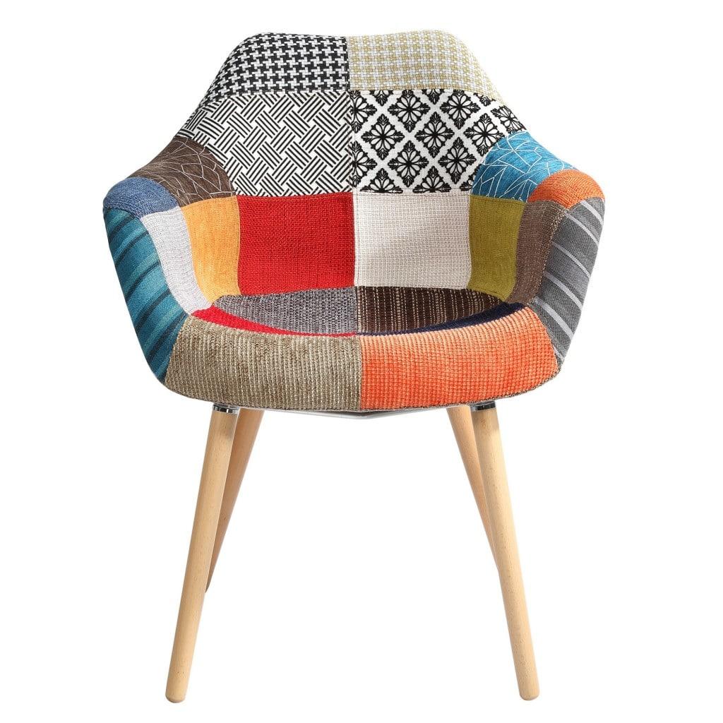 Zoom sur le motif patchwork for Acheter une chaise
