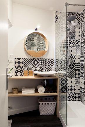 salle de bain carreaux de faïence moderne