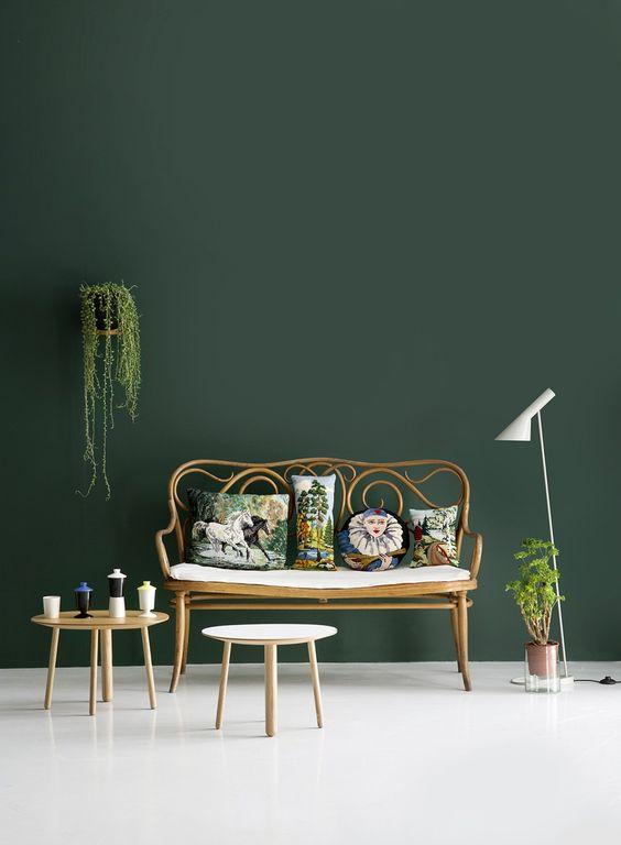 déco murale vert foret