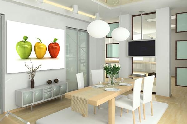 tableau grand format pommes salle à manger design