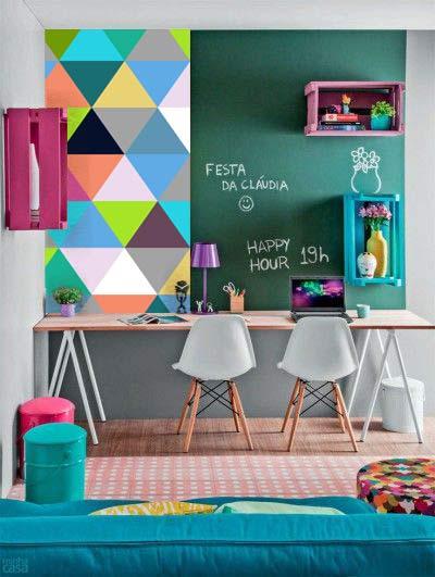 papier peint intissé moderne triangles