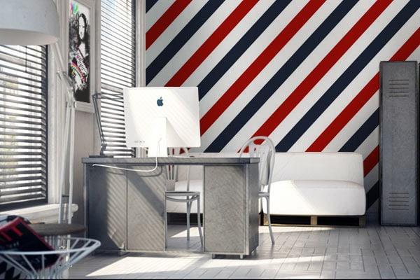 papier peint moderne les patterns s 39 invitent sur nos murs blog toile design et moderne d 39 izoa. Black Bedroom Furniture Sets. Home Design Ideas