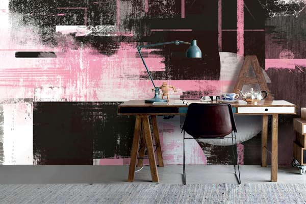 papier-peint-moderne-eclipse-rose