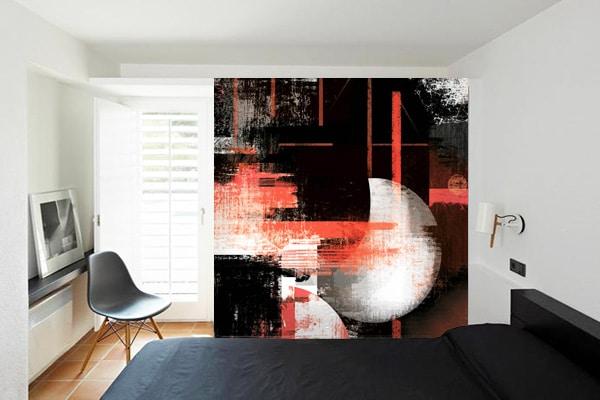 papier-peint-rouge-et-noir-eclipse-izoa