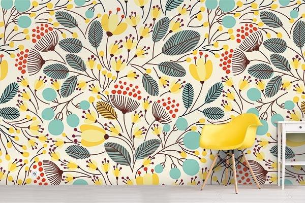 poster mural scandinave fleur izoa