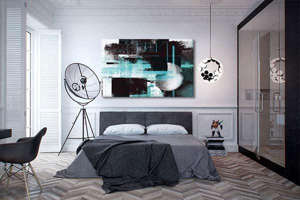 cadre d co abstrait et poster mural eclipse blog izoa. Black Bedroom Furniture Sets. Home Design Ideas