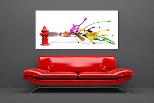 toile imprimée grand format design Izoa