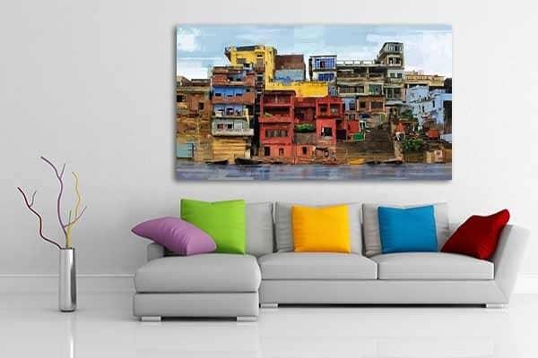 tableau grand format Favelas Izoa