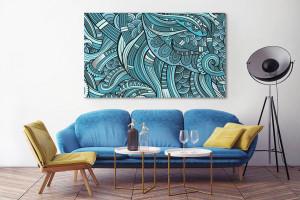tableau abstrait moderne Izoa Tohu bohu
