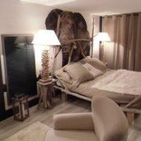papier peint moderne Izoa éléphant savane