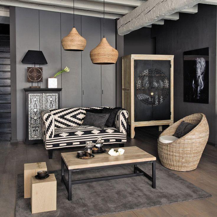 décoration salon thème afrique moderne