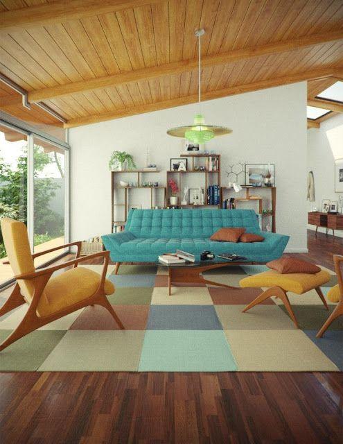 Décoration intérieure vintage rétro