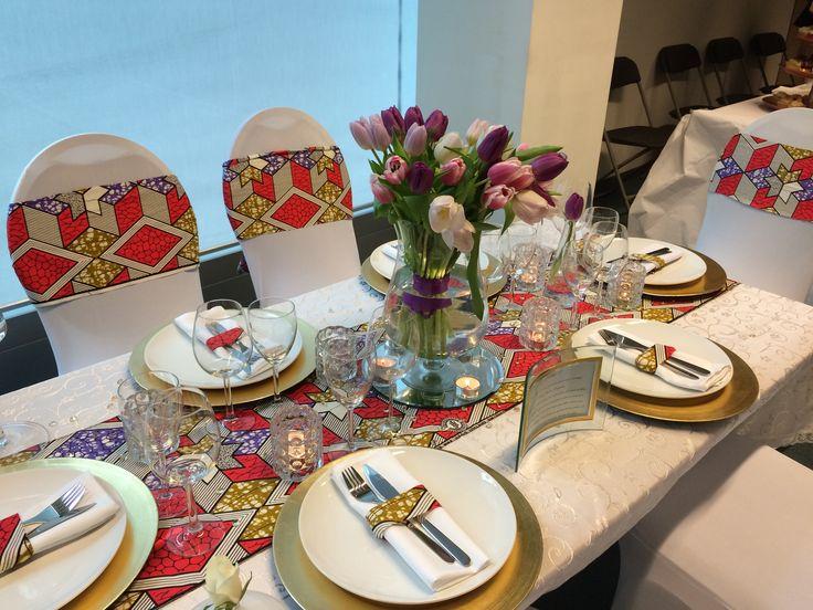 Décoration de table moderne aux couleurs de l'Afrique