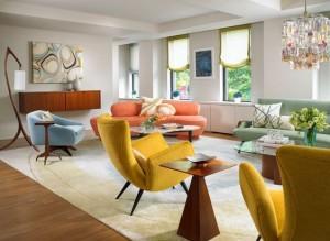 décoration salon style vintage rétro