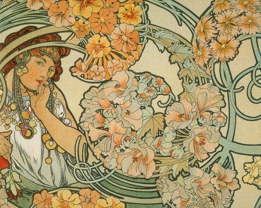 """Projet de tenture """"Byzantine"""" par Alfons Mucha, 1900"""