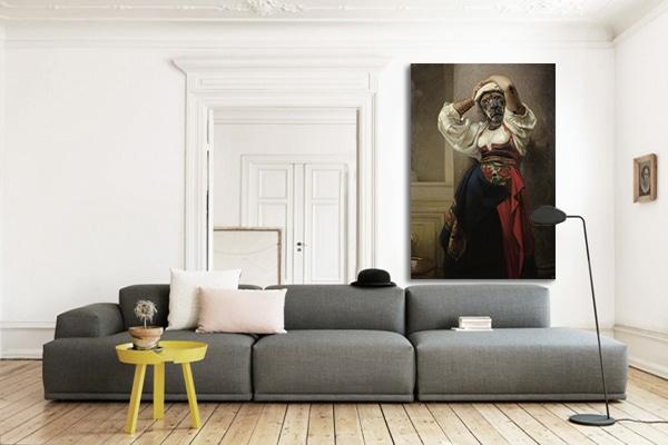 toile imprimée grand format Femme Lionne