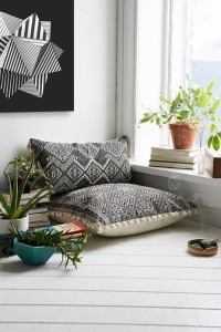 tableau noir et blanc moderne motif géométrique