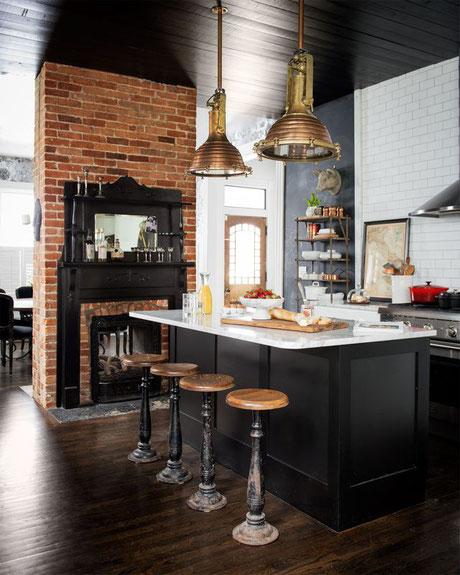 Décoration cuisine moderne esprit bistrot
