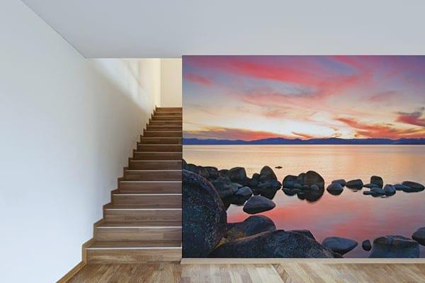 papier peint tendance paysage lac