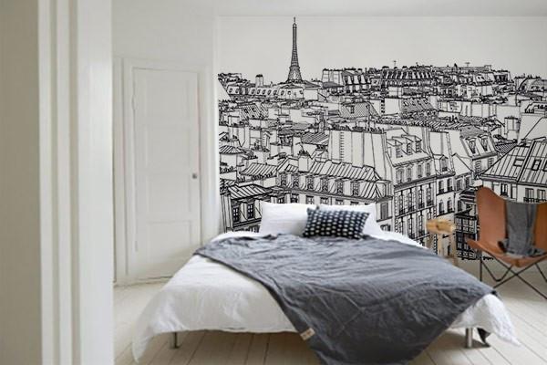 tapisserie tendance noir et blanc paris