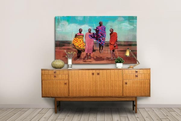 tableau africain maasai Izoa