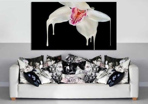 tableau noir et blanc moderne Orchidée design