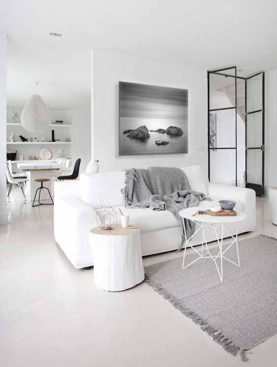 tableau noir et blanc moderne paysage