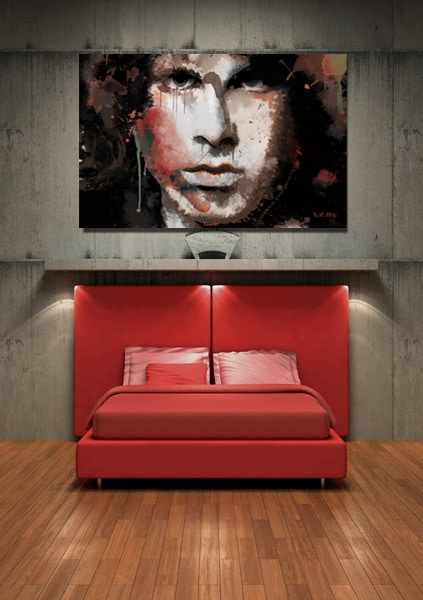 tableau grand format Jim Morrison