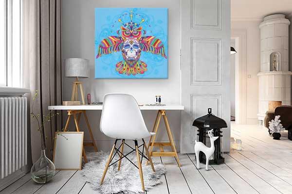 Tableau toile izoa style boho