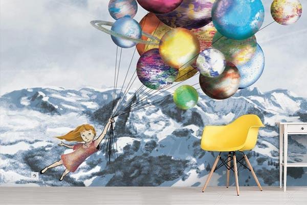 """Papier peint enfant """"Au sommet d'un rêve"""" par Izoa"""
