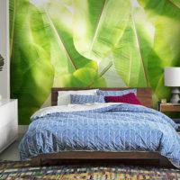 décoration murale chambre tropicale