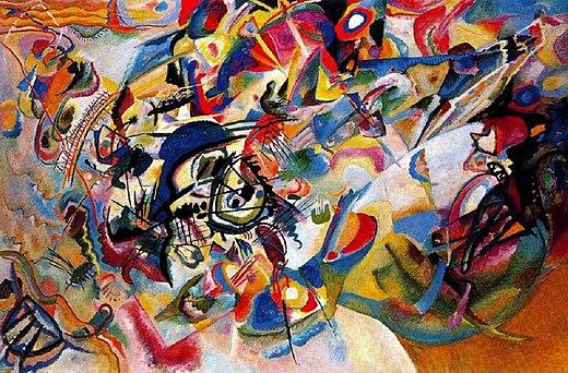 """Composition VII"""", huile sur toile considérée comme l'oeuvre maîtresse de Vassily Kandinsky - 1913"""