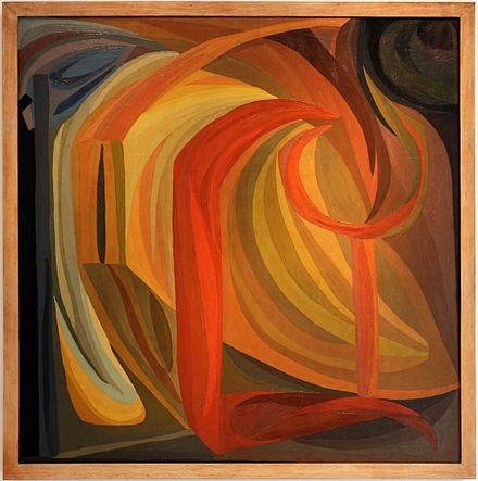 """""""Composition"""", oeuvre d'Otto Freundlich, qualifiée """"oeuvre d'intérêt patrimonial majeur"""" et exposée au Musée d'Art moderne de Paris - 1911"""