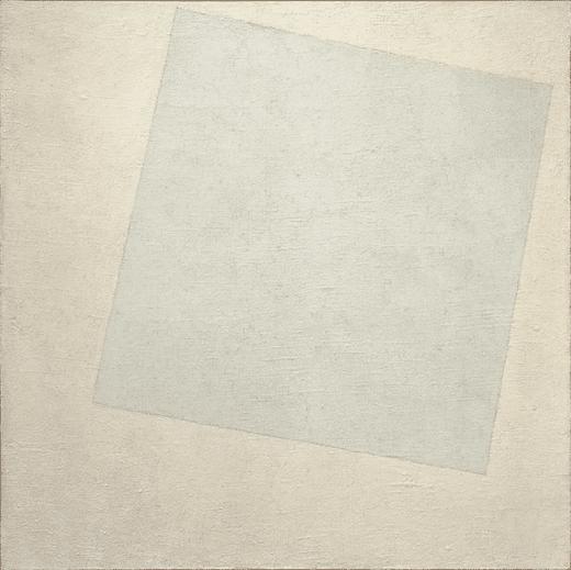 """""""Carré blanc sur fond blanc"""", Malevitch - 1918"""
