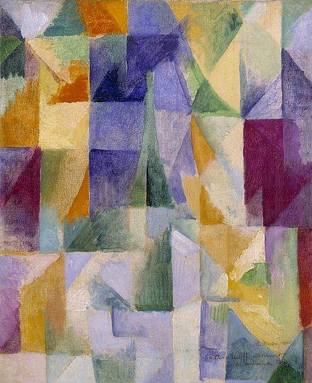 """""""Fenêtres ouvertes simultanément"""", Delaunay - 1912"""