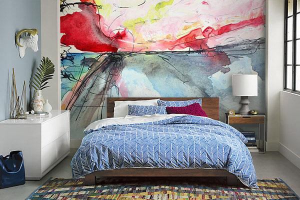 papier peint chambre design arpège