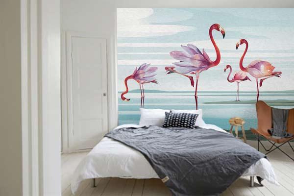papier-peint-chambre-flamant-rose-izoa