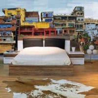 papier peint moderne coloré favelas izoa