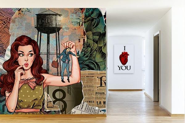 poster mural pop art izoa