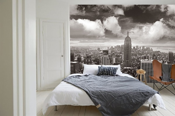 un papier peint chambre new york pour une ambiance new. Black Bedroom Furniture Sets. Home Design Ideas