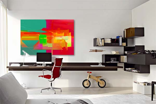 tableau design abstrait pigmentation izoa