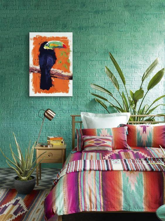 tableau-moderne-colore-toucan-izoa