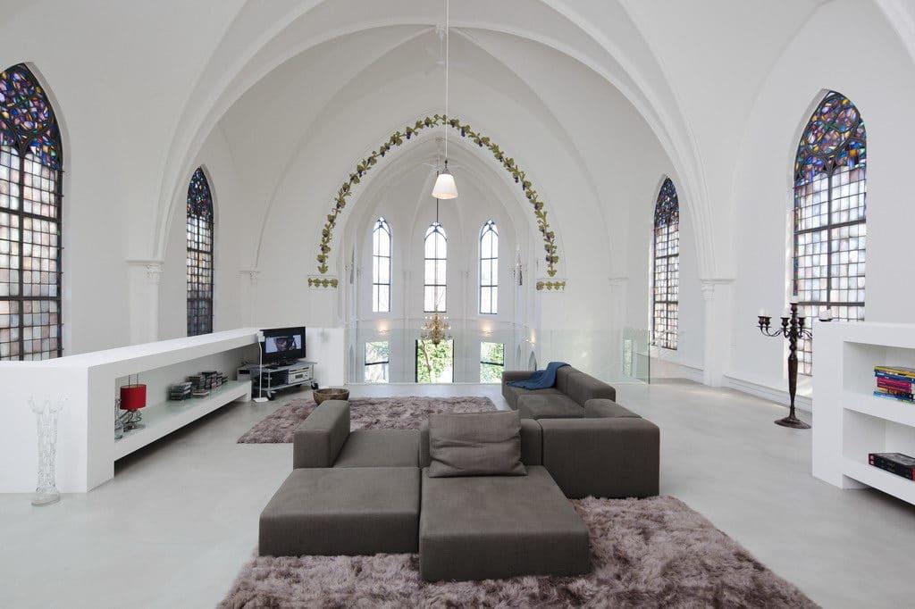 église réhabilitée habitation