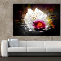 toile décorative murale Fleur de lumière Izoa