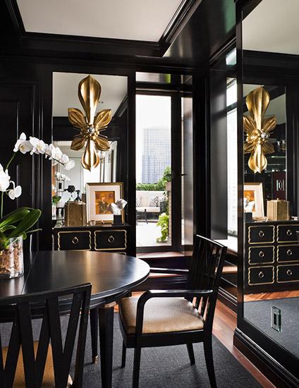 déco intérieure salon élégante doré