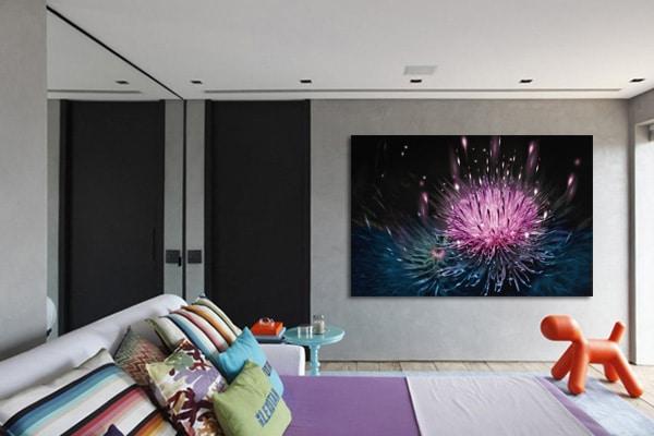 tableau pour chambre fleur de chardon Izoa
