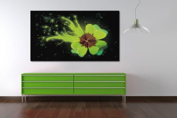 tableau sur toile trèfle à 4 feuilles Izoa