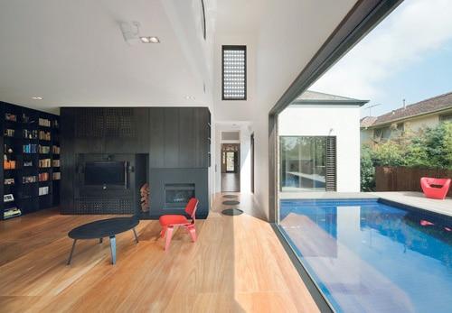 maison grande baie vitrée