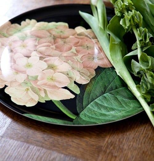 Motif floral assiette