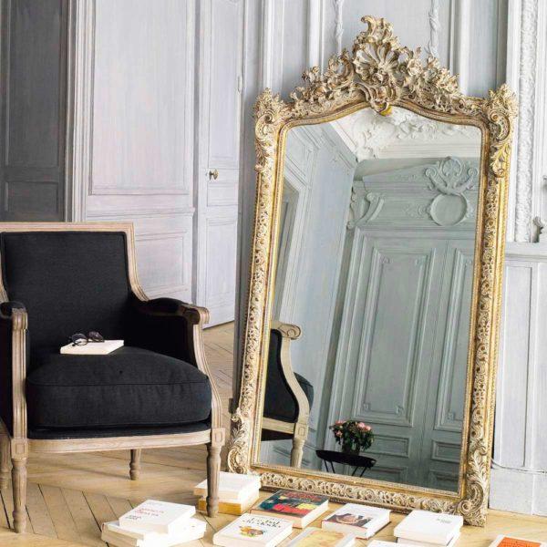 miroir doré décoration salon